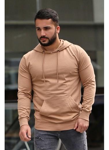 Madmext Sweatshirt Camel